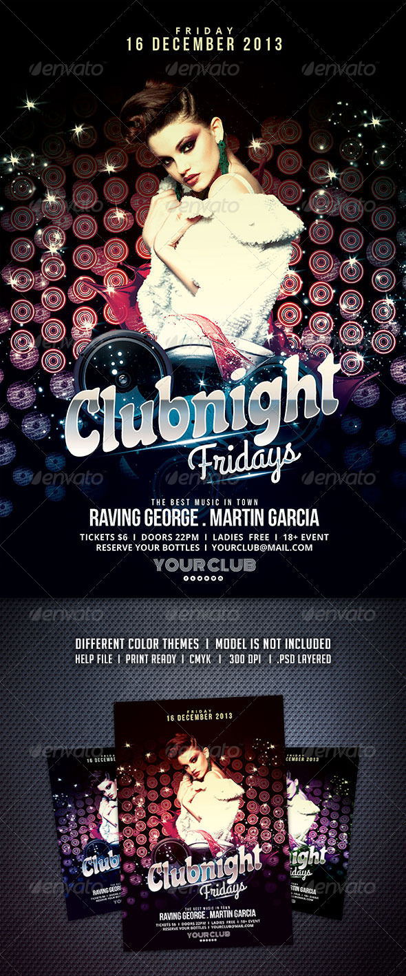 Clubnight Fridays Flyer - Clubs & Parties Events