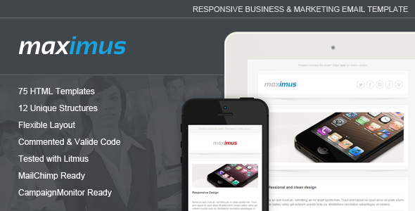 ThemeForest Maximus Responsive Email Template 5814500