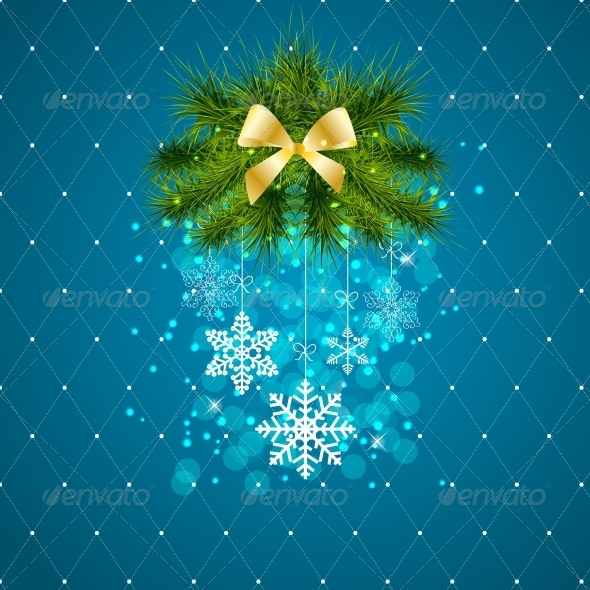 GraphicRiver Abstract Christmas and New Year Background 5814567