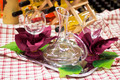 Tray with Wine Carafe and Glasses on the Table - PhotoDune Item for Sale