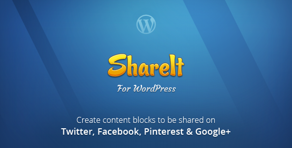ShareIt is a WordPress plugin to create and share content snippets made of texts and/or images through social networks: Twitter, Facebook, Pinterest and Google+