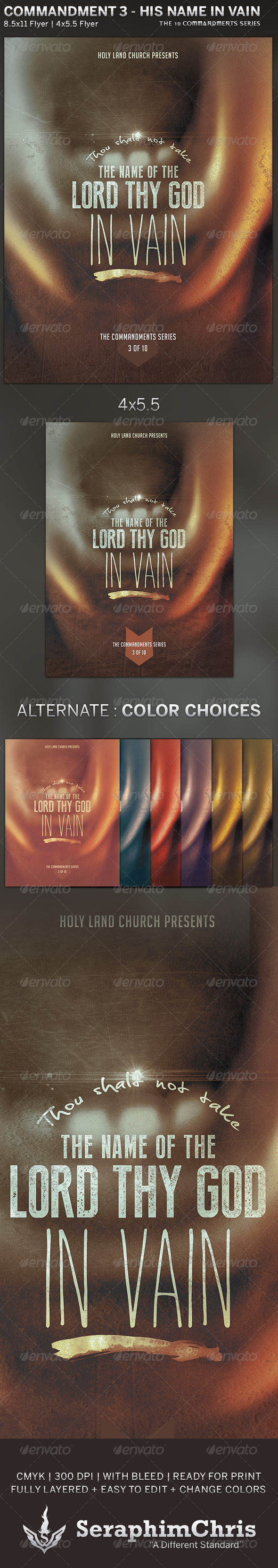 GraphicRiver The Lord s Name Church Flyer Template 5815553