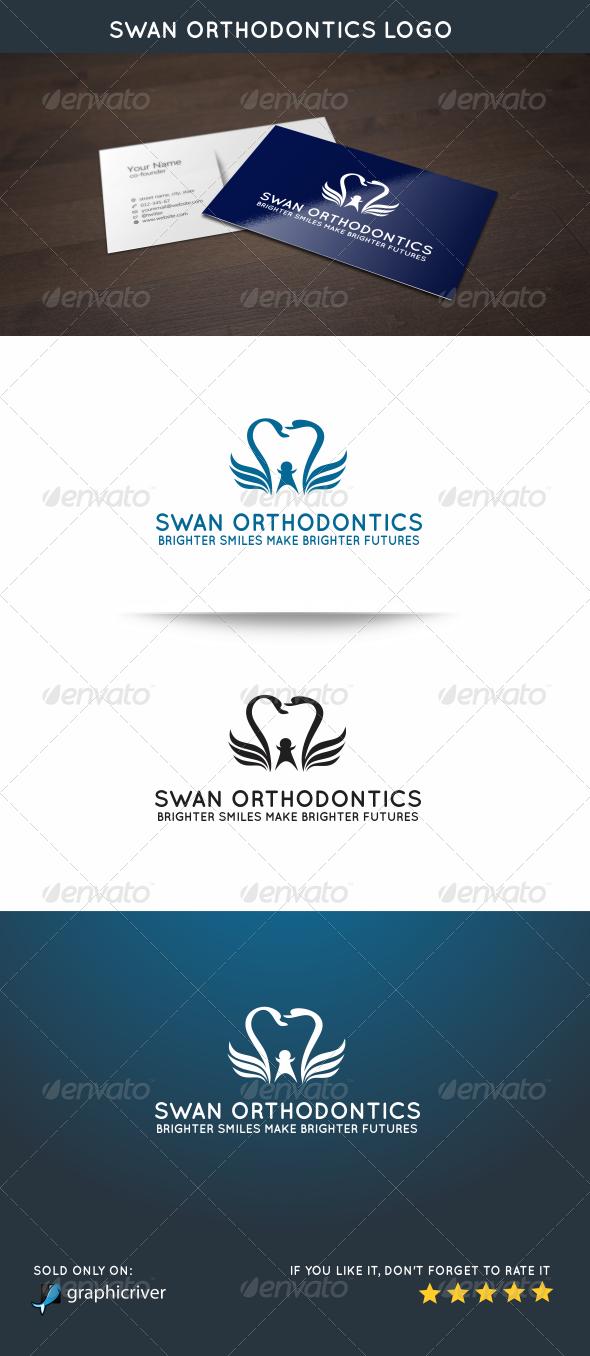 GraphicRiver Swan Orthodontics Logo 5815690