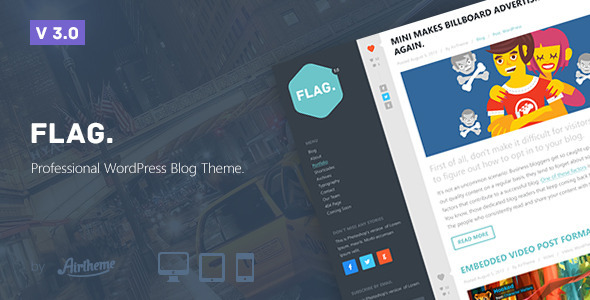 Flag: Professional WordPress Blog Theme - Personal Blog / Magazine