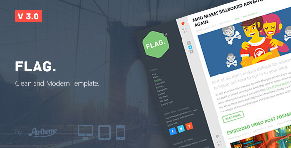 Flag. - Clean and Modern Template - Creative Site Templates
