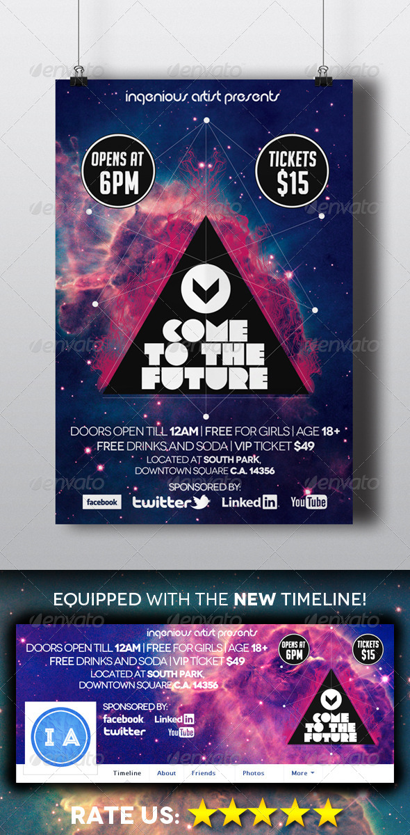 GraphicRiver Come to the Future Flyer & Timeline 5412726