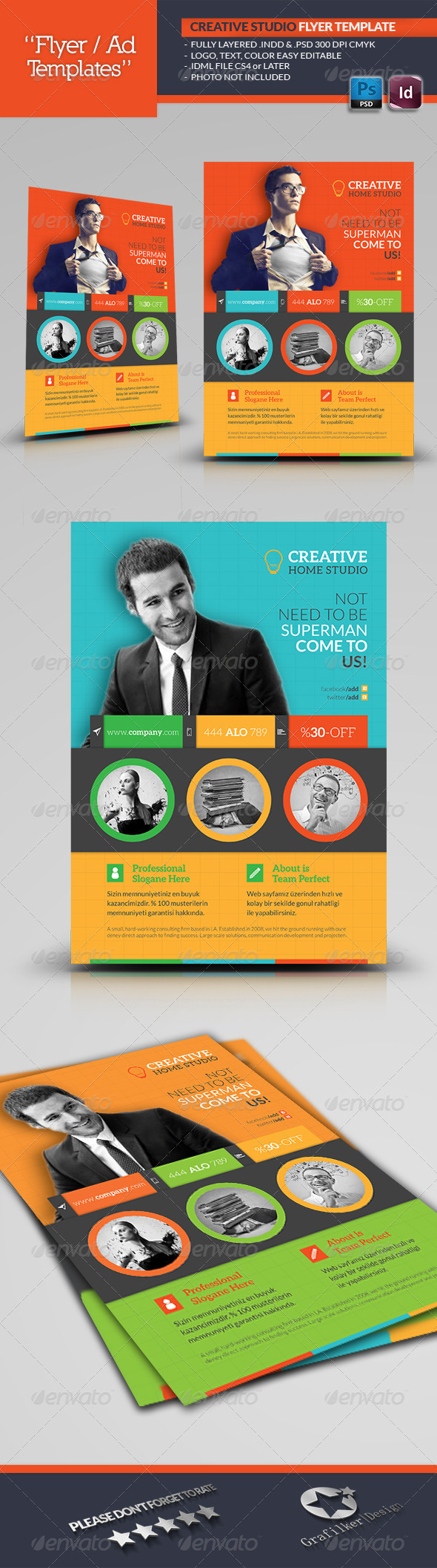 Creative Studio Flyer Template - Corporate Flyers