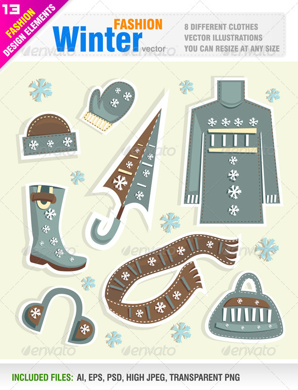 GraphicRiver Winter Clothes 5816613