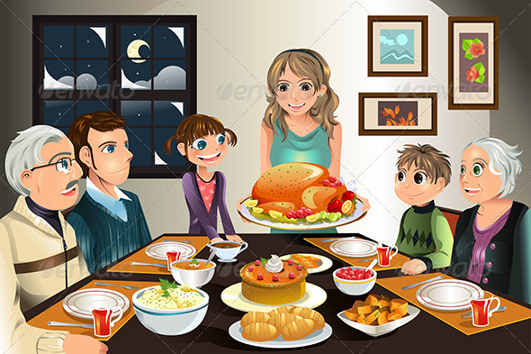 GraphicRiver Thanksgiving Family Dinner 5816730