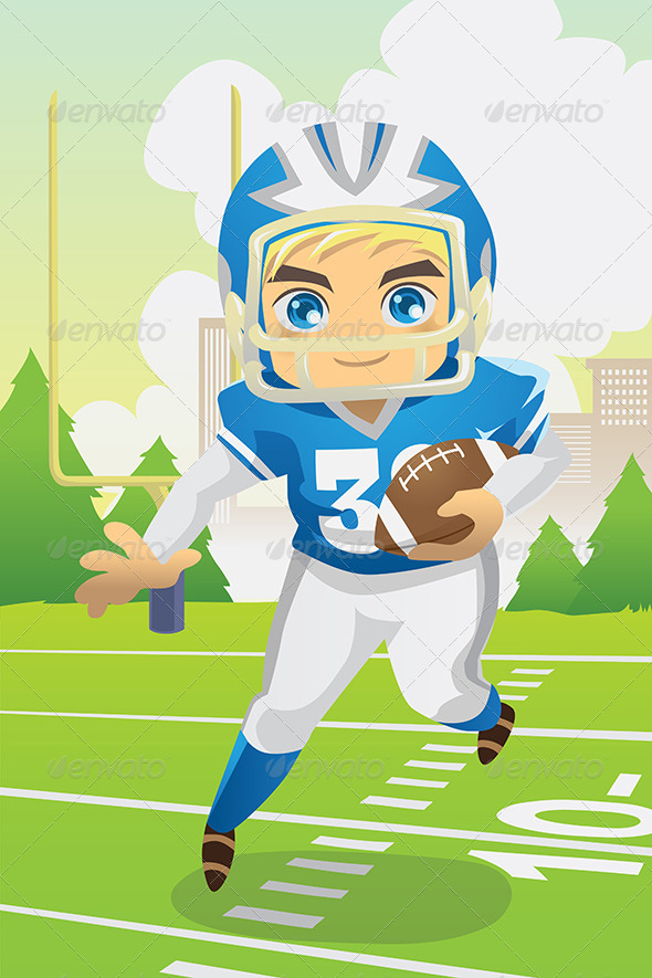 GraphicRiver Boy Playing Football 5816746