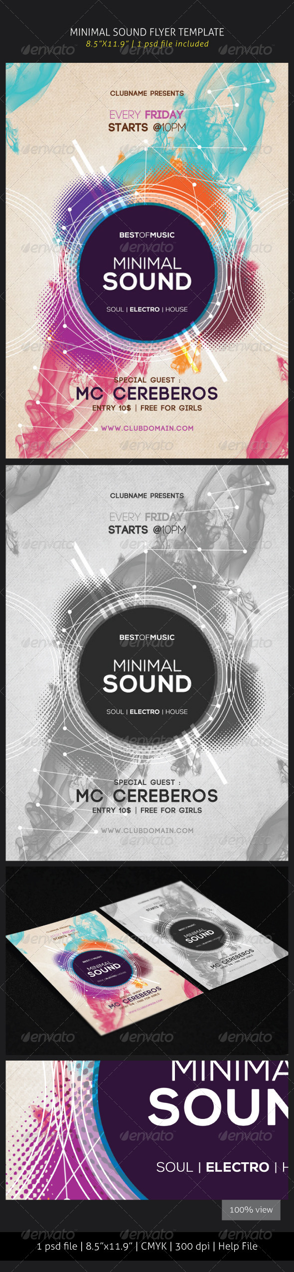 GraphicRiver Minimal Sound Flyer Template 5816751