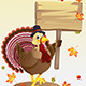 Turkey with a Sign - GraphicRiver Item for Sale