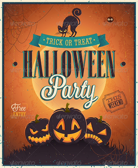GraphicRiver Happy Halloween Poster 5816811