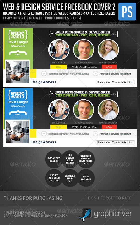 GraphicRiver Web Design Service Facebook Cover Image 2 5816818