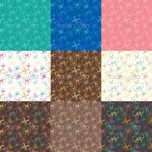 GraphicRiver Seamless Patterns with Ribbon 5816865