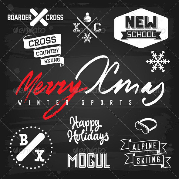 GraphicRiver Winter Sports Christmas Greetings 5817085
