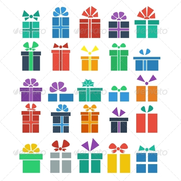 GraphicRiver Set of Gifts 5817093