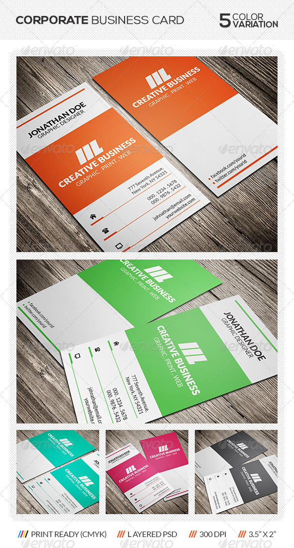 GraphicRiver Creative Corporate Business Card 5817244