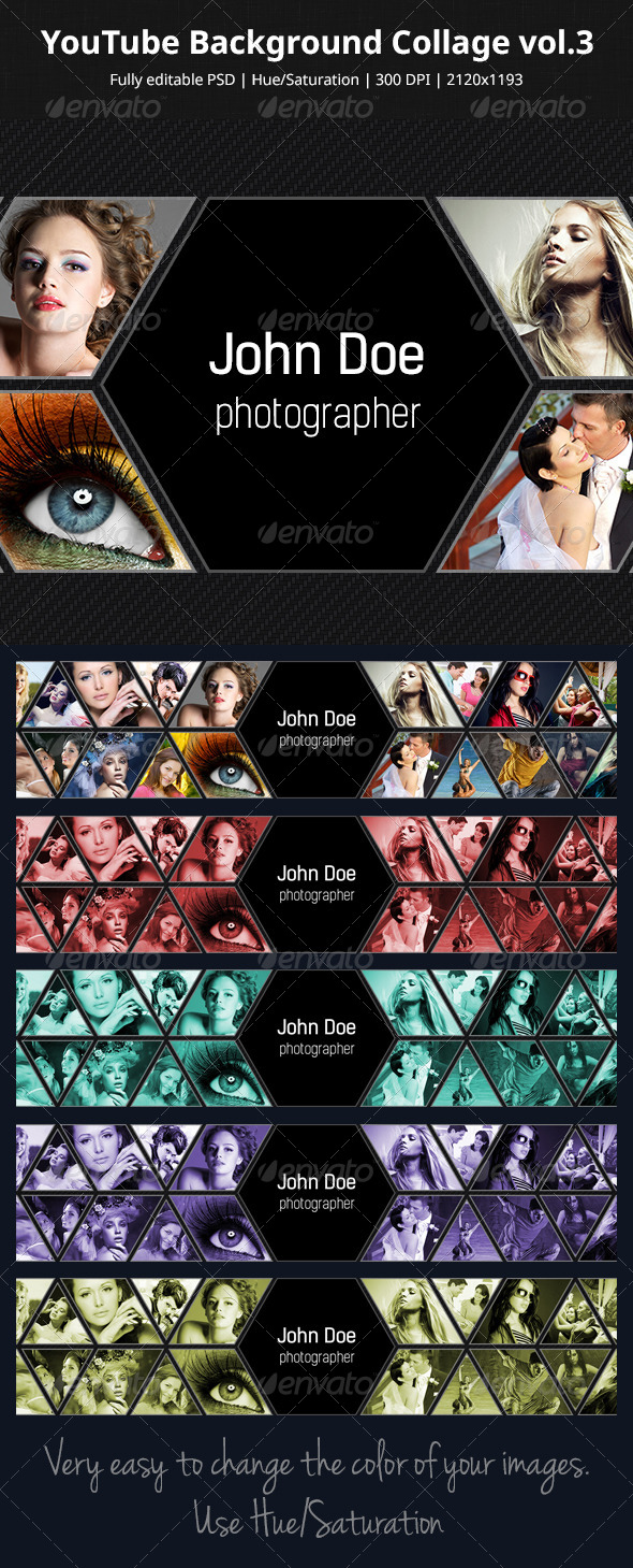 GraphicRiver YouTube Background Collage vol.3 5817330