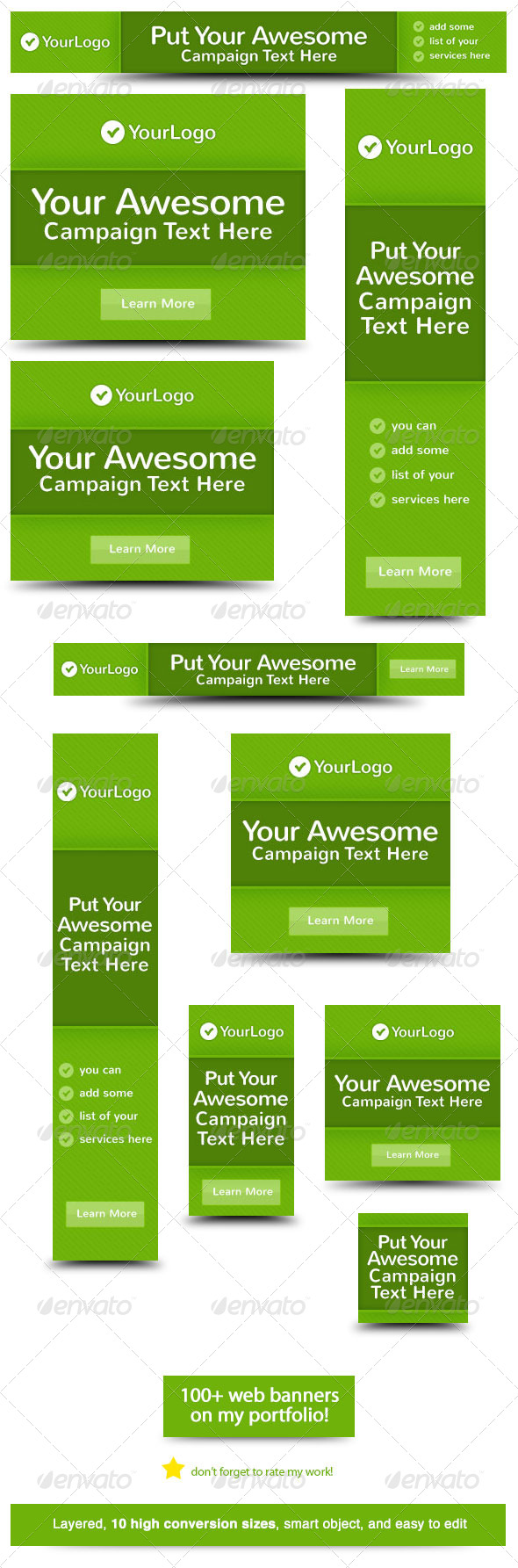 GraphicRiver Awesome Green Web Banner Design 5818754
