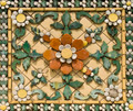 Old floral, ceramic tile - PhotoDune Item for Sale