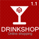 Drink Shop Responsive Magento Theme - ThemeForest Item for Sale