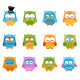 Retro Owl Set - GraphicRiver Item for Sale