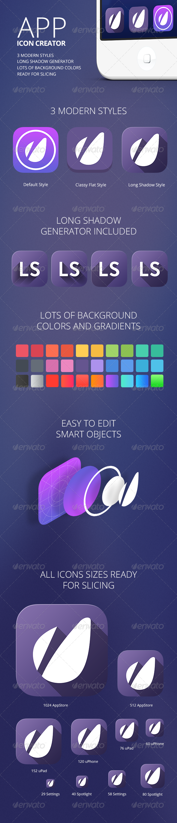 GraphicRiver App Icon Creator with Flat Shadow Generator 5803947