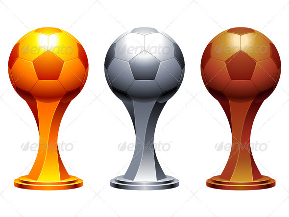 GraphicRiver Soccer Trophy Cups 5821459