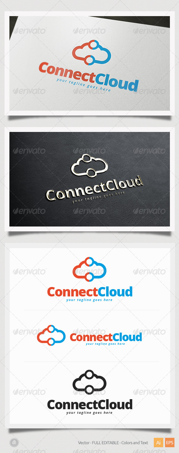GraphicRiver Connect Cloud Logo 5821564