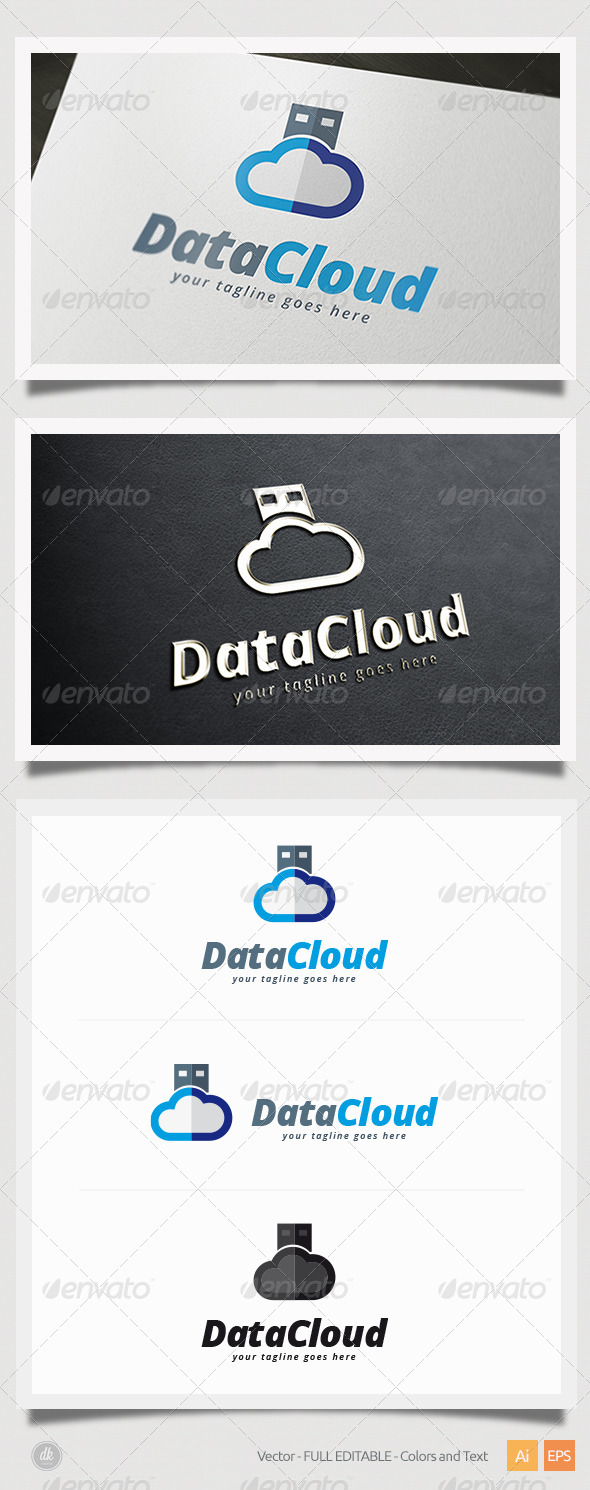 GraphicRiver Data Cloud Logo 5822426
