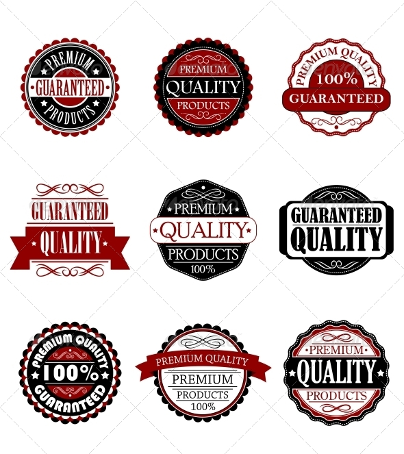 GraphicRiver Premium Quality and Guarantee Labels Set 5823753