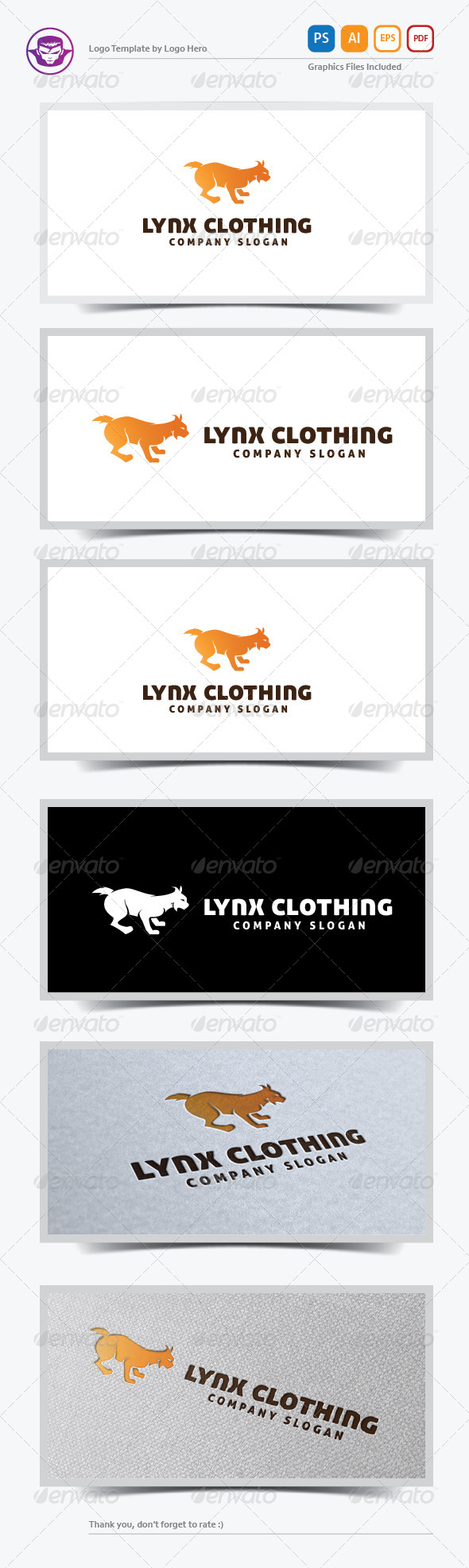 GraphicRiver Lynx Clothing Logo Template 5823780