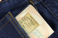 immigration passport page in a trouser pocket  - PhotoDune Item for Sale