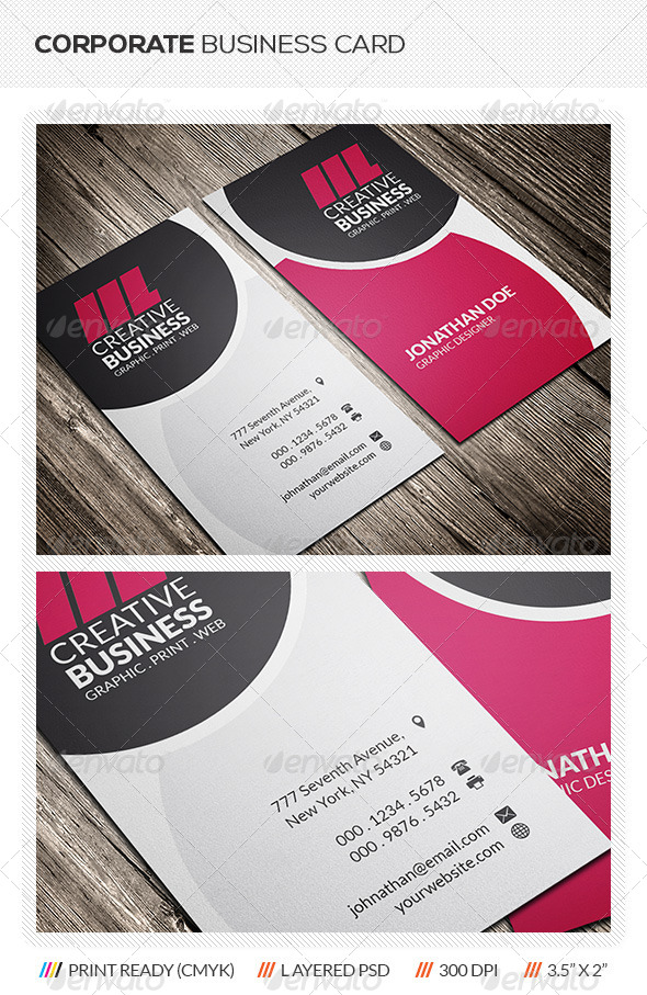 GraphicRiver Corporate Business Card 5825189