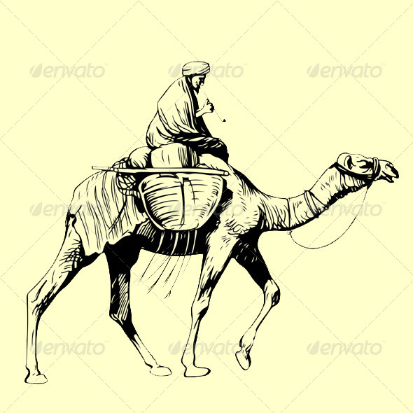 GraphicRiver Bedouin on his Camel 5825849