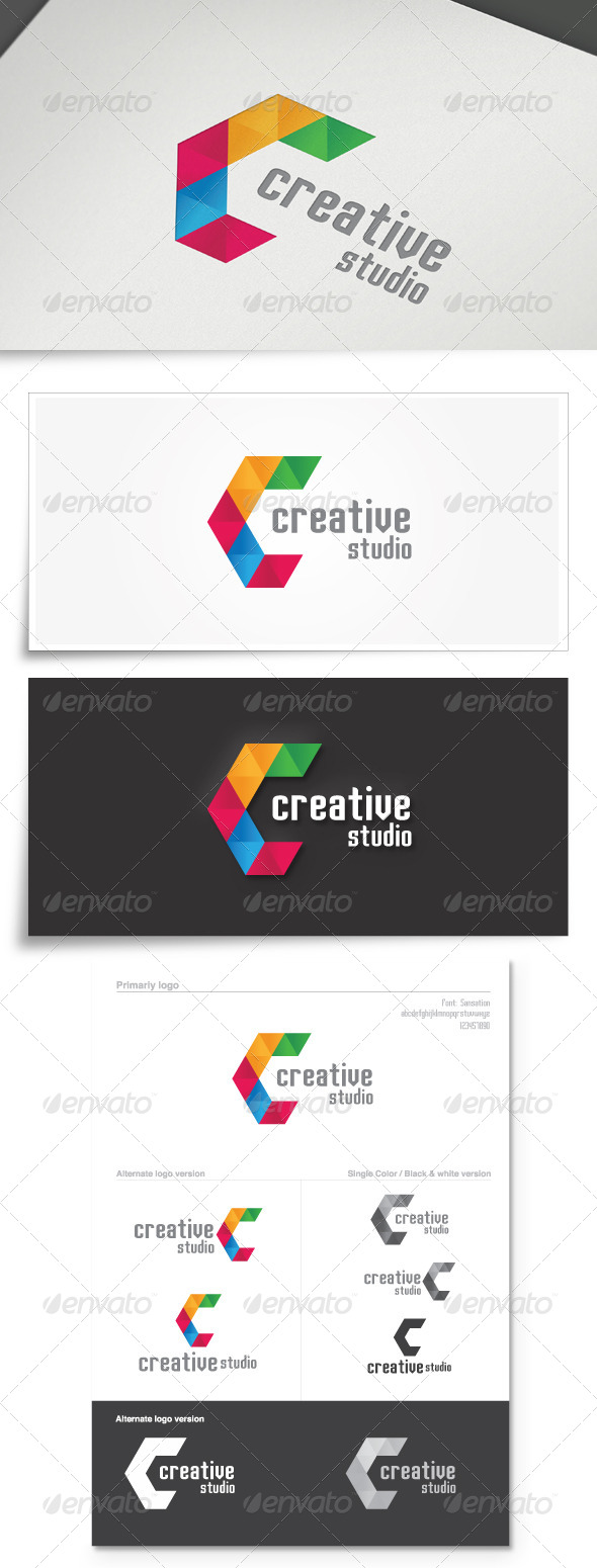 GraphicRiver Creative Studio Colorful Logo 5826256
