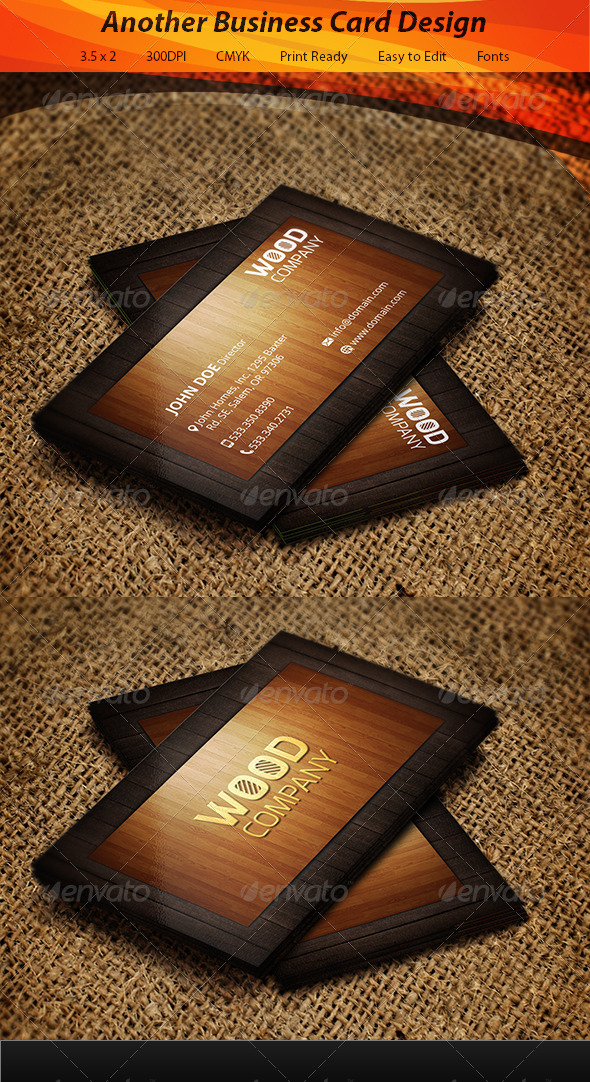 GraphicRiver Wooden Business Card 5826294