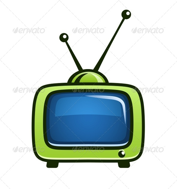 GraphicRiver Vintage TV Set Vector Clipart 5826383