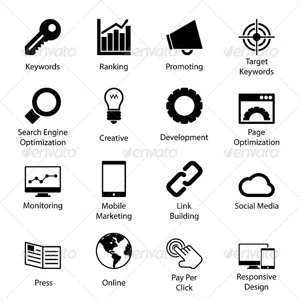 GraphicRiver Seo Icons 5827360