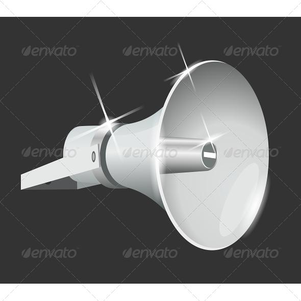 GraphicRiver Vector Speaker Megaphone 5827368