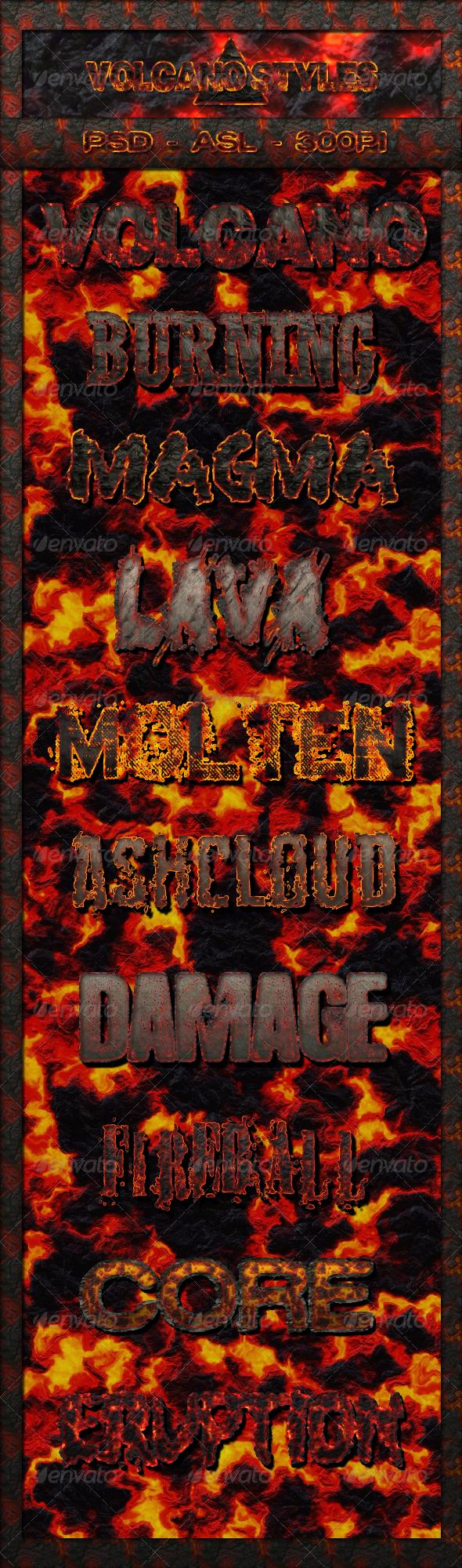 GraphicRiver 10 Volcano Text Styles 5828398