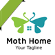 Moth Home Logo - GraphicRiver Item for Sale
