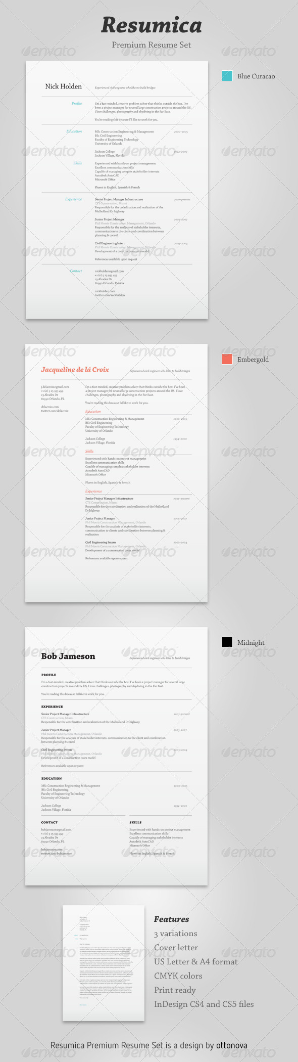 GraphicRiver Resumica Resume Set 242552