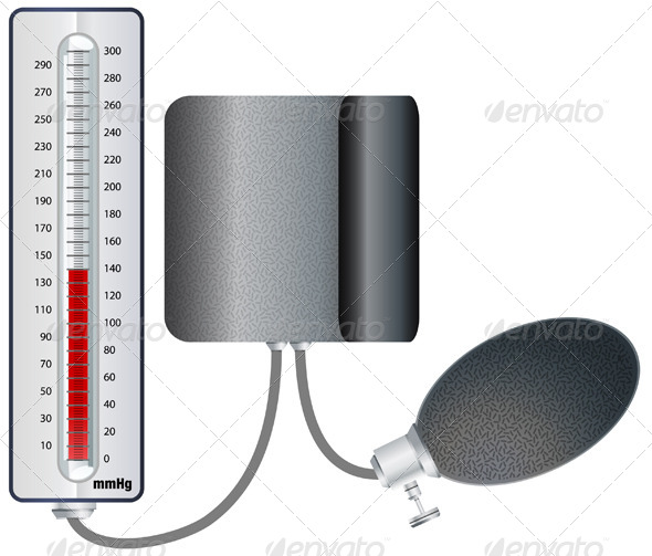 GraphicRiver Blood Pressure Monitoring Illustration 5830483