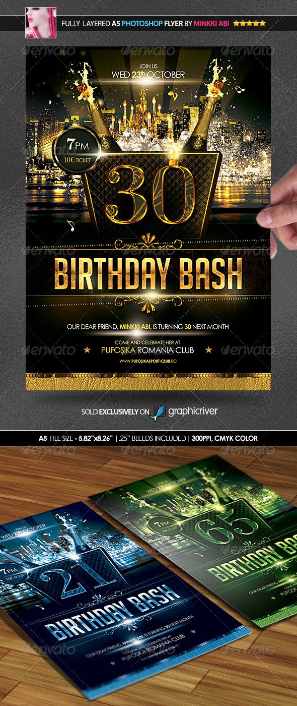 Birthday Bash Poster/Flyer - Events Flyers