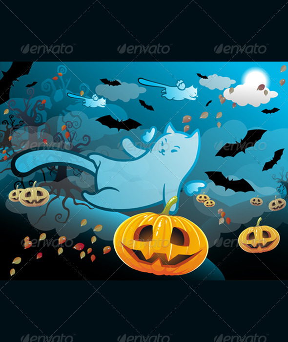 GraphicRiver Halloween Cat 5819564