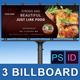 Food Shop Business Billboar-Graphicriver中文最全的素材分享平台