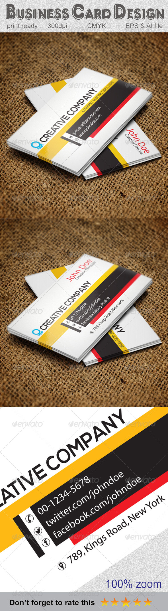 GraphicRiver Corporate Business Card 5831405