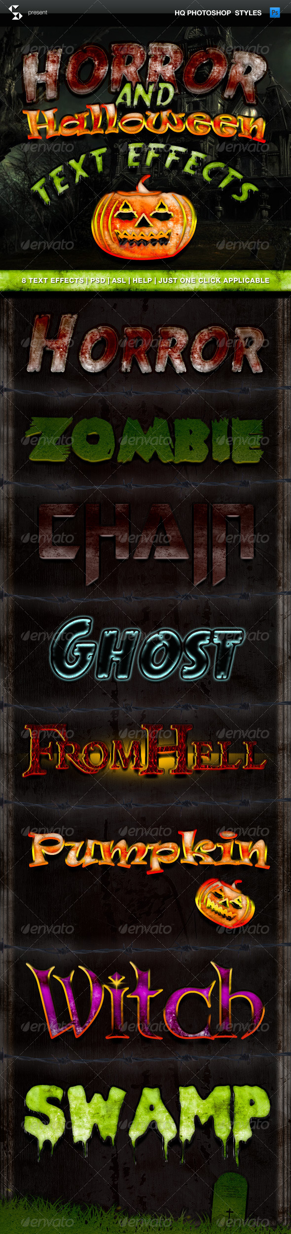 GraphicRiver Horror and Halloween Text Effects 5832192